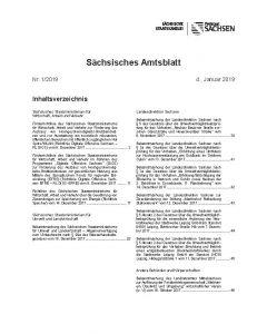 Sächsisches Amtsblatt Sonderdruck Heft 1/2020