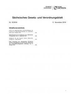 Sächsisches Gesetz- und Verordnungsblatt Heft 13/2019