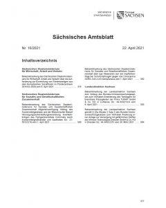 Sächsisches Amtsblatt Heft 16/2021