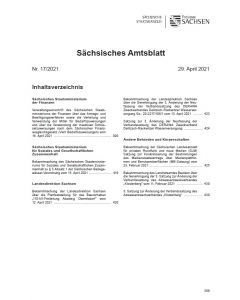 Sächsisches Amtsblatt Heft 17/2021