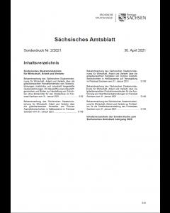 Sächsisches Amtsblatt Sonderdruck Heft 2/2021