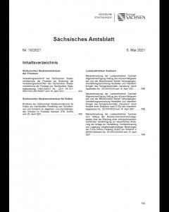 Sächsisches Amtsblatt Heft 18/2021