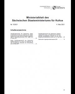 Ministerialblatt des Sächsischen Staatsministeriums für Kultus Heft 5/2021