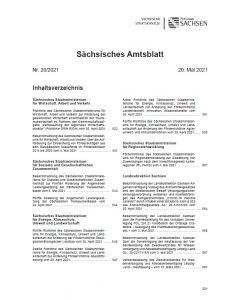 Sächsisches Amtsblatt Heft 20/2021