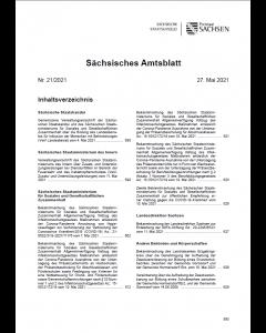 Sächsisches Amtsblatt Heft 24/2021