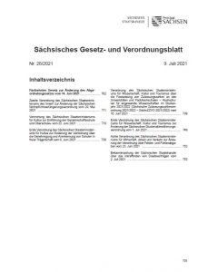 Sächsisches Gesetz- und Verordnungsblatt Heft 28/2021