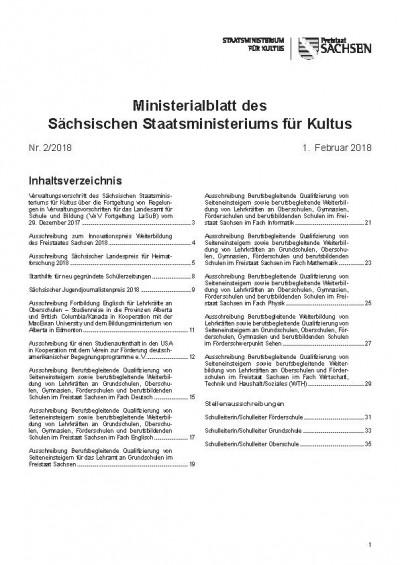 Ministerialblatt des Sächsischen Staatsministeriums für Kultus Heft 02