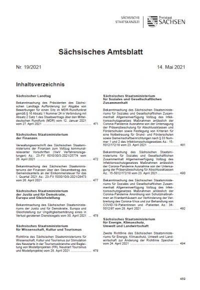Sächsisches Amtsblatt Heft 19/2021